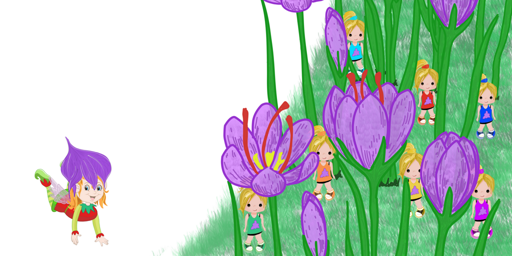 Iris (o La Flor del Azafrán) - Jardín de flores de azafrán