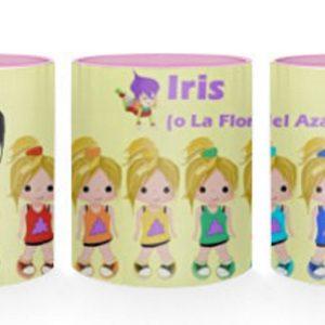 Taza de Iris o La Flor del Azafrán